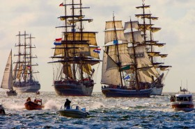 The parade of ships in Amsterdam