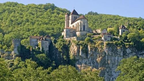 Village of Saint-Cirq-Lapopie, Lot, Midi-Pyrenees, France. Village de Saint-Cirq-Lapopie, Lot, Midi-Pyrenees, France, 2012. Photo by Christian Clausier/ABACAPRESS.COM